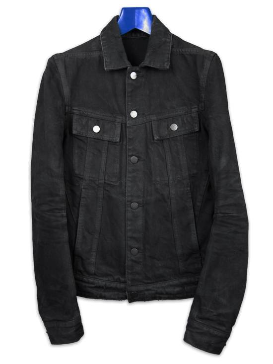Balmain SS13 Black Wax Coated Denim Jacket sz. XS Size US XS / EU 42 / 0