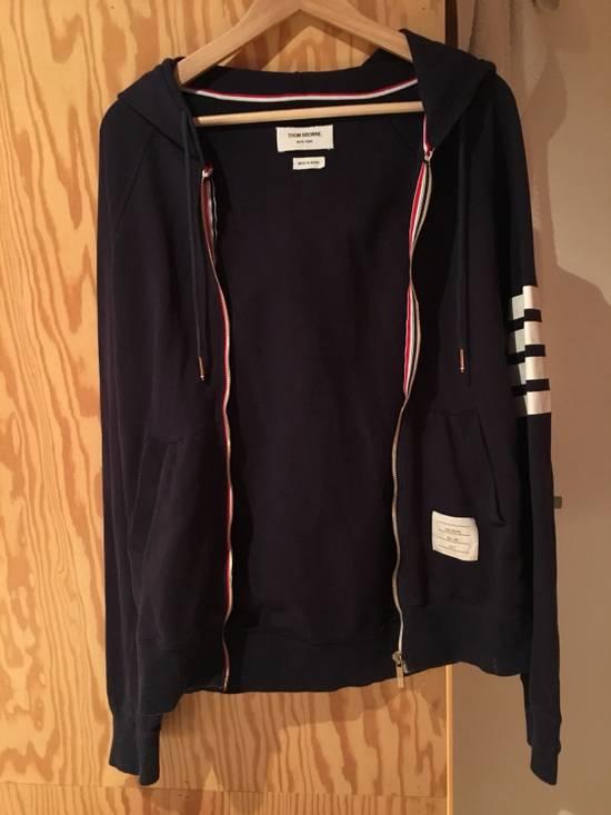 Thom Browne Thom Browne Classic Striped Navy Blue Hoodie Size US L / EU 52-54 / 3