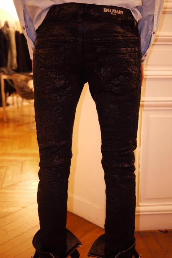 Balmain Balmain Midnight Blue Waxed Embroidered Jeans Size US 27 - 10