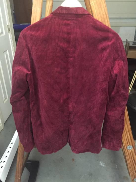 Julius AW03 Blood Red Velvet Blazer Size US M / EU 48-50 / 2 - 7