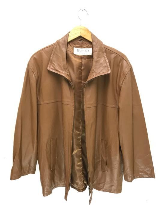 Balmain Balmain Paris Vintage Sheep Leather Jacket Brown Size US L / EU 52-54 / 3