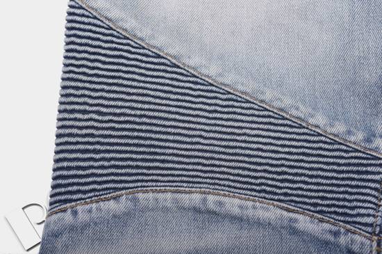 Balmain 1565$ Skinny Light Blue Distressed Biker Jeans Size US 33 - 10