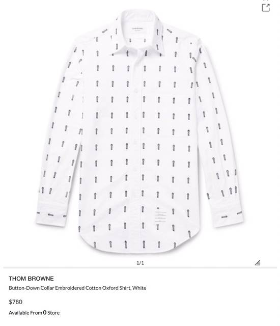 Thom Browne Button-Down Collar Embroidered Cotton Oxford Shirt Brand New With Tags Size 4 Size US L / EU 52-54 / 3