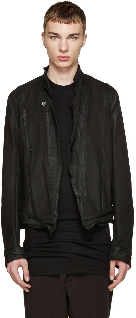 Julius Julius Black Waxed Denim Jacket Size US L / EU 52-54 / 3