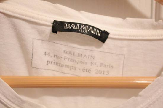 Balmain Rare 2013 Distressed Twisted Seam White T Shirt Size US S / EU 44-46 / 1 - 4