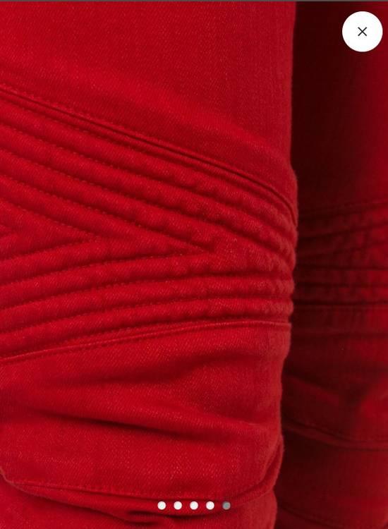 Balmain Jeans balmain biker Red Size US 30 / EU 46 - 2