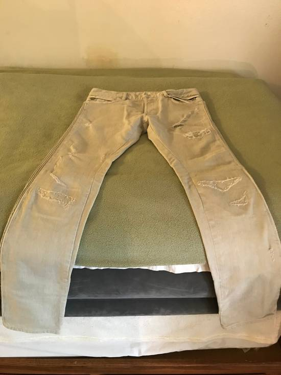 Balmain Distressed stretch-denim biker jeans Size US 31 - 3