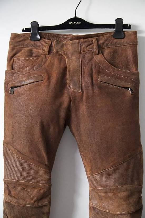 Balmain 2014 leather biker pants Size US 30 / EU 46