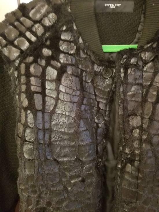 Givenchy Givenchy Black Embossed Crocodile Bomber Jacket Varsity Sample Size 48 50 Paint Size US M / EU 48-50 / 2 - 6