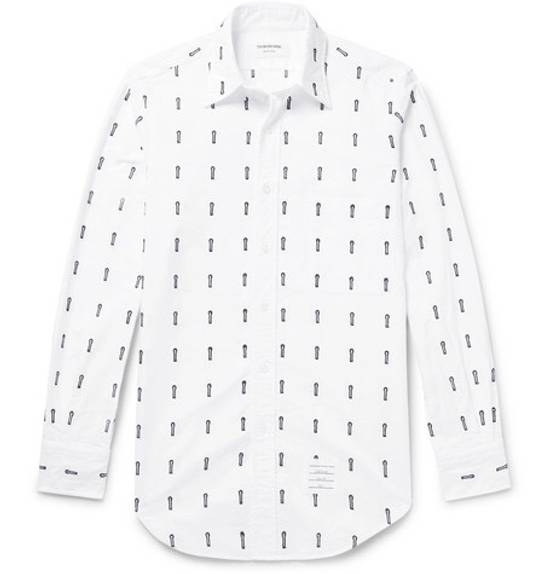 Thom Browne Button-Down Collar Embroidered Cotton Oxford Shirt Brand New With Tags Size 4 Size US L / EU 52-54 / 3 - 1