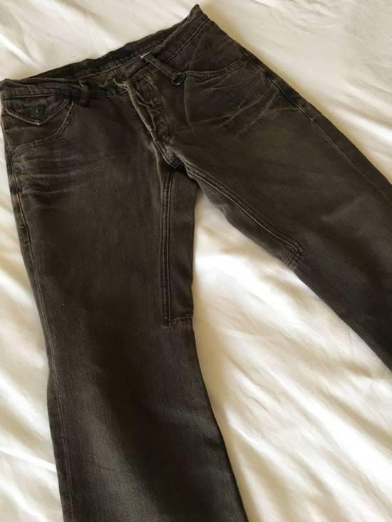 Julius Japan made cropped wrinkle and dirt effect distressed frayed hem Jeans Size US 28 / EU 44 - 4