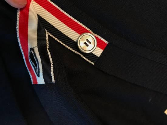 Thom Browne Navy Merino Wool Classic 4 Bar Cardigan Size US L / EU 52-54 / 3 - 6