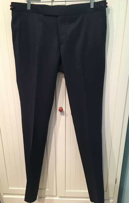 Thom Browne Side Tab Skinny Pants in Navy Twill Wool Size US 36 / EU 52 - 2