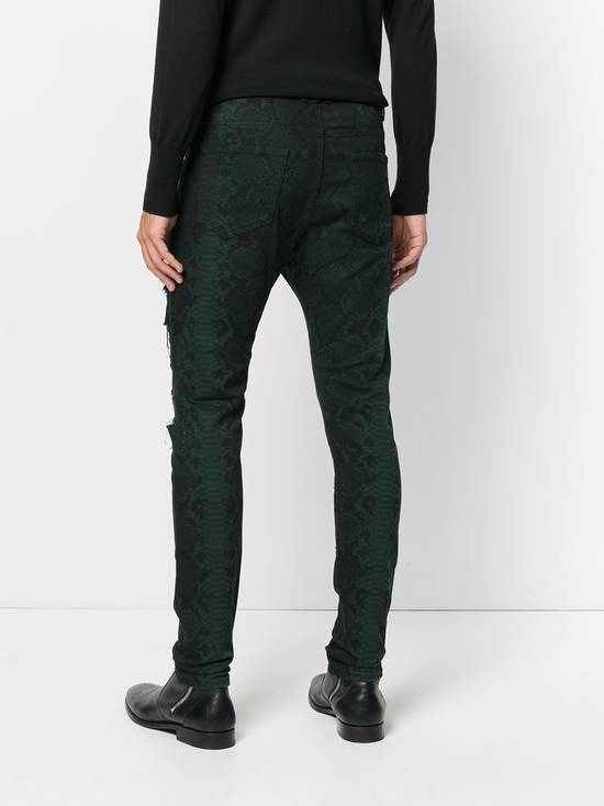 Balmain Size 32 - Distressed Snake Print Rockstar Jeans - FW17 - RARE Size US 32 / EU 48 - 12