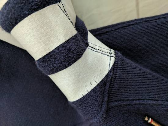 Thom Browne Navy Zip Hoodie Size US XS / EU 42 / 0 - 1