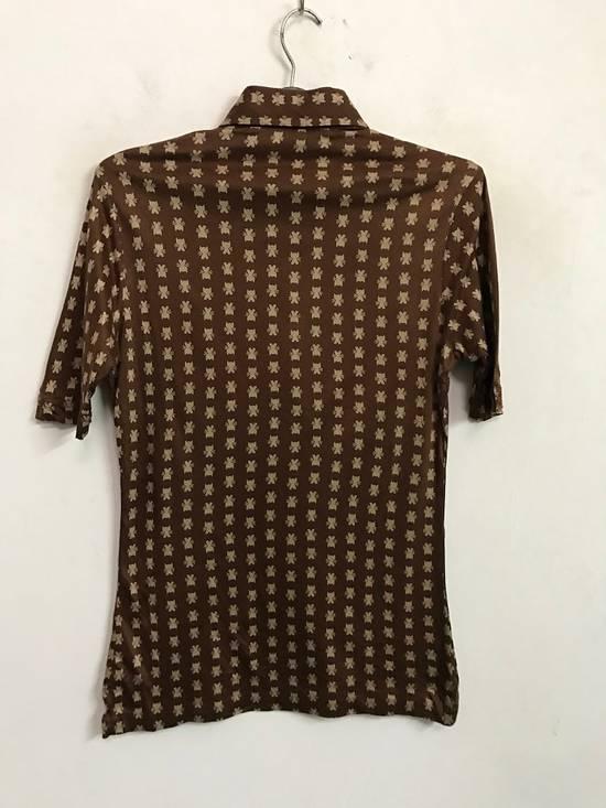 Givenchy Luxury Designer GIVENCHY Gentleman Paris Made in France Atomic Print Retro Collar Shirt Size US M / EU 48-50 / 2 - 4