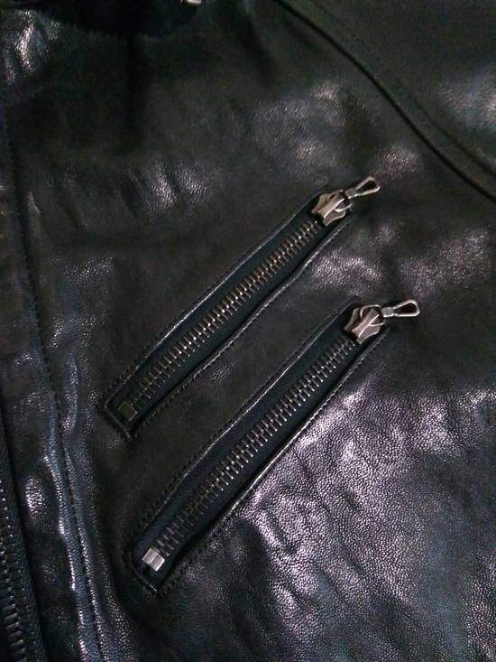 Julius Jut Neck Leather Jacket s/s08 Size US M / EU 48-50 / 2 - 4