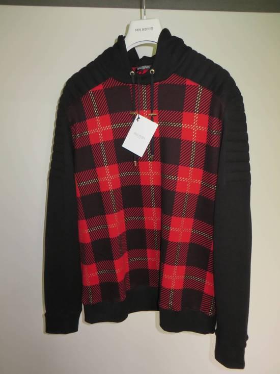 Balmain Tartan hooded sweatshirt Size US XL / EU 56 / 4