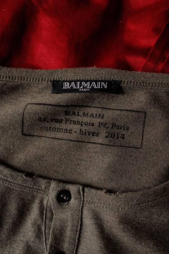 Balmain Balmain Military Henley Long Sleeve Large A/W 2014 Size US L / EU 52-54 / 3 - 7