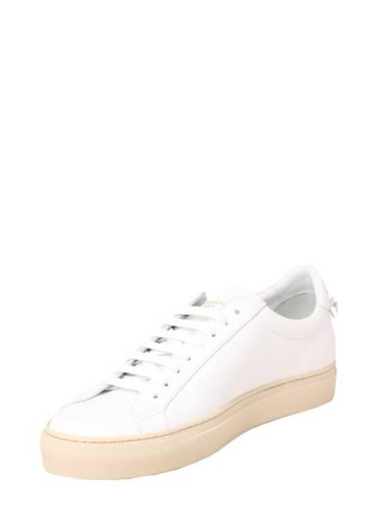 Givenchy Paris White Leather Sneakers Size US 12 / EU 45 - 1