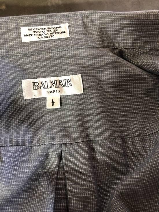 Balmain Grey Pattern Button Down Size US L / EU 52-54 / 3 - 4