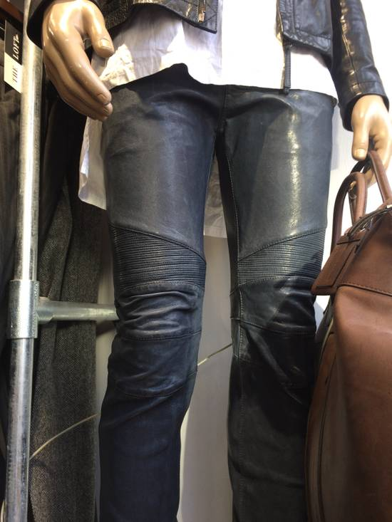 Balmain Balmain Grey Leather Mens Trousers Size US 34 / EU 50