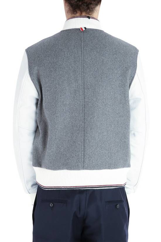 Thom Browne Size 0 New Wool Leather Varsity Bomber Size US XS / EU 42 / 0 - 1