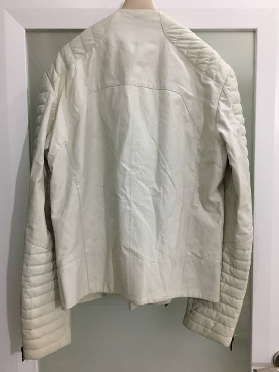 Balmain Balmain White Leather Biker Jacket Size US M / EU 48-50 / 2 - 1
