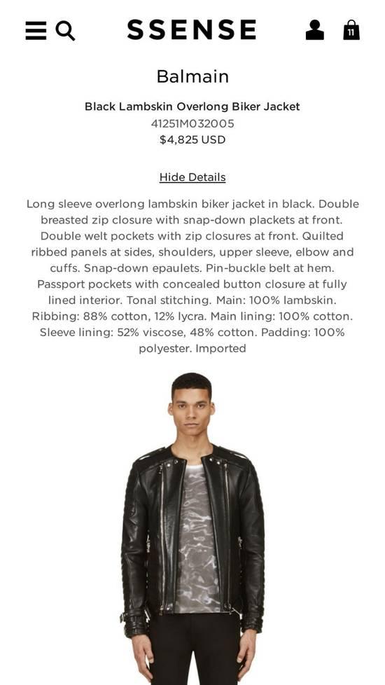Balmain Black Lambskin Overlong Biker Perfecto Jacket EU48/US38 Size US M / EU 48-50 / 2 - 11
