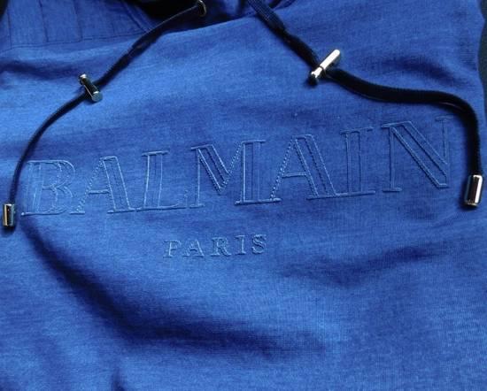 Balmain New Balmain Logo Hoodie in Denim blue 100% Authentic RRP £650 Size US M / EU 48-50 / 2 - 1