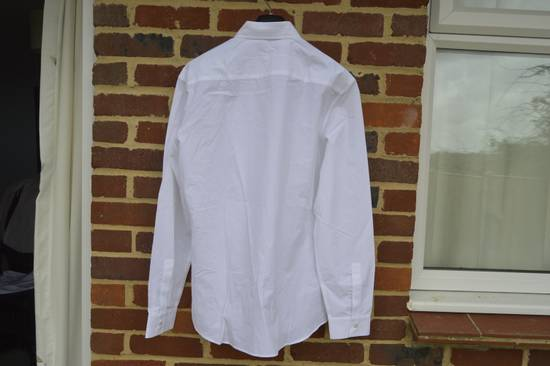 Givenchy White Embroidered Stars Collar Shirt Size US L / EU 52-54 / 3 - 8