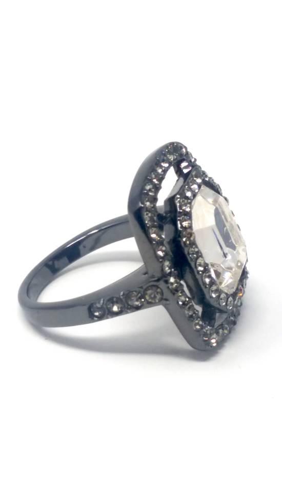 Givenchy Gunmetal ring size 8 Size ONE SIZE - 7