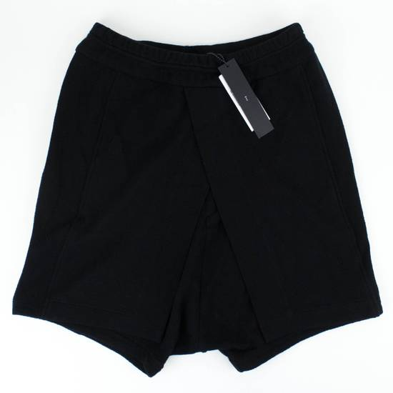 Julius 7 Black Cotton Asymmetric Layered Shorts Size L Size US 36 / EU 52