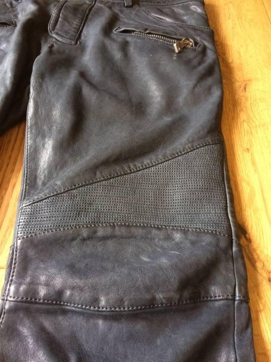 Balmain Balmain Grey Leather Mens Trousers Size US 34 / EU 50 - 4