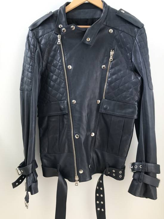 Balmain Quilted Leather Biker Jacket Size US M / EU 48-50 / 2