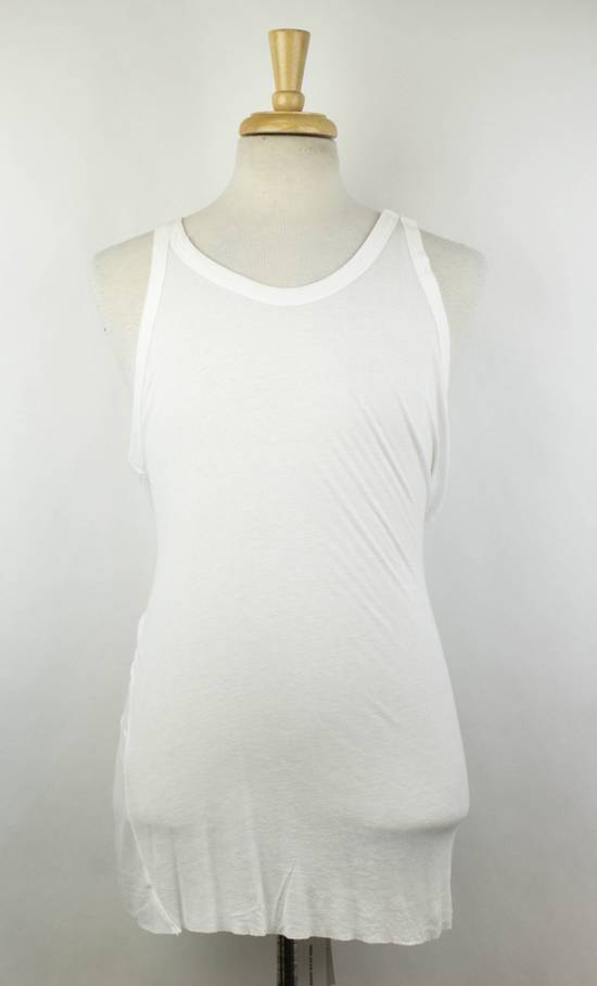 Julius 7 White Rayon Blend Long Ribbed Tank Top T-Shirt Size 4/L Size US L / EU 52-54 / 3