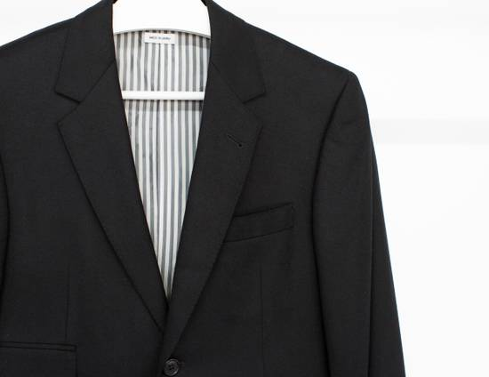Thom Browne Long sport coat in black wool flannel (FW15) Size 36S - 2