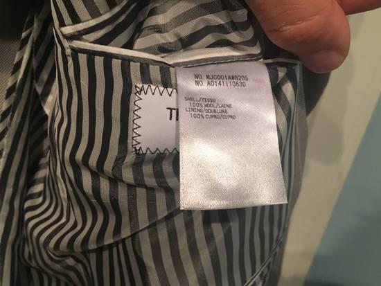Thom Browne Sport Blazer in Grey/White Anchor Pinstripe Wool Jacquard Size US S / EU 44-46 / 1 - 7