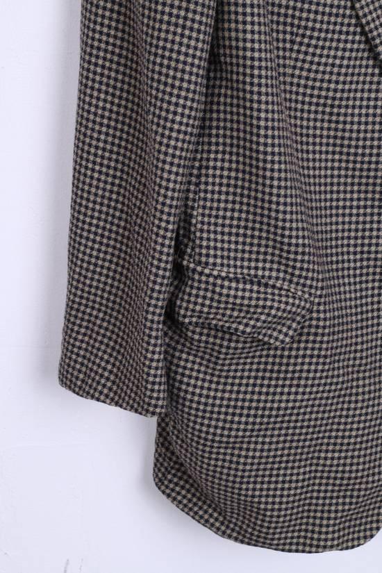 Balmain Pierre Balmain Paris El Corte Ingles Mens 56 L Blazer Top Suit Check Wool Brown 9933 Size 42R - 1
