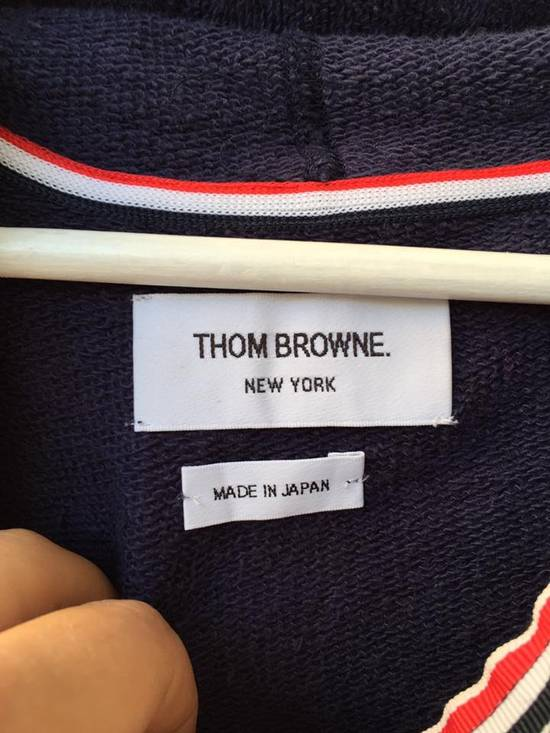 Thom Browne NAVY ENGINEERED STRIPE HOODY Size US L / EU 52-54 / 3 - 5