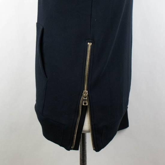 Balmain Blue Cotton Embroidered Patch 1/2 Zip Sweater Size M Size US M / EU 48-50 / 2 - 4