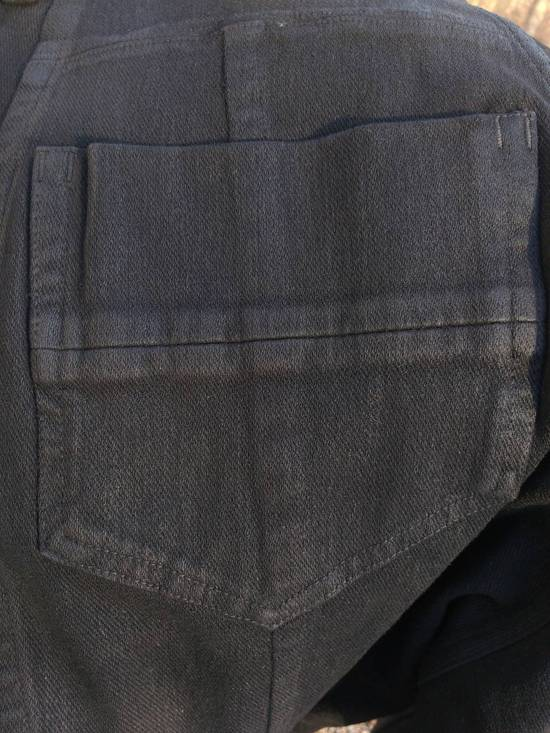 Julius Black Knit Denim Waxed Drop Crotch Jeans Size US 29 - 5