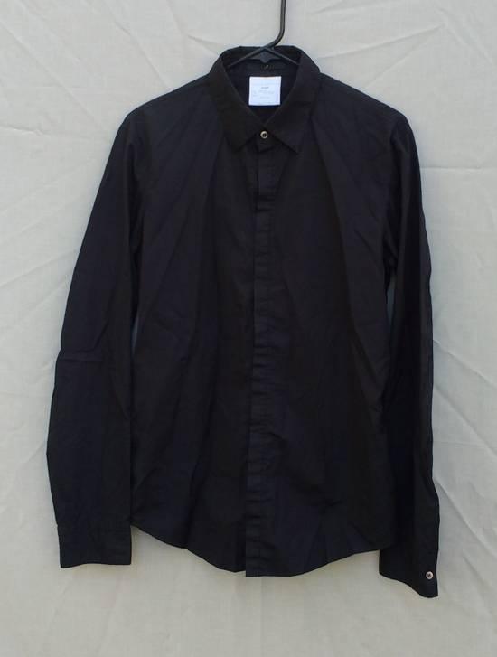 Julius Black Hidden Placket Shirt Size US L / EU 52-54 / 3