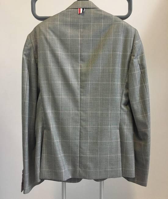 Thom Browne Men's Grey Black & White Prince Of Wales Wool Blazer Size US M / EU 48-50 / 2 - 6
