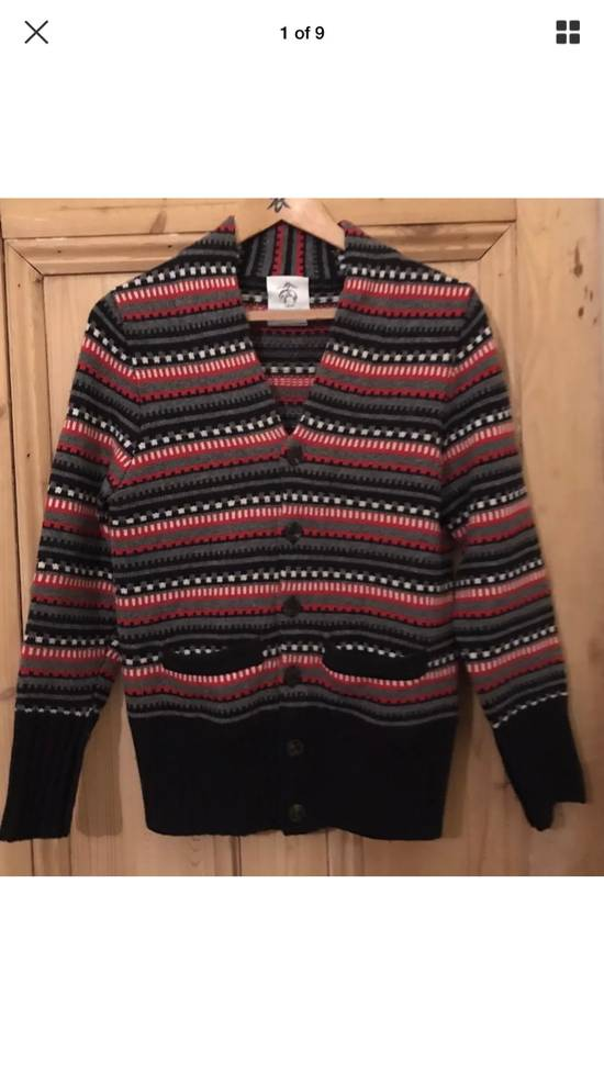 Thom Browne Black Fleece Wool Chunky Cardigan Size US L / EU 52-54 / 3