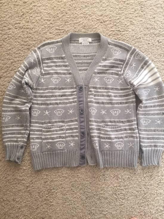 Thom Browne Gray Sweater Size 4 $650 Size US XL / EU 56 / 4