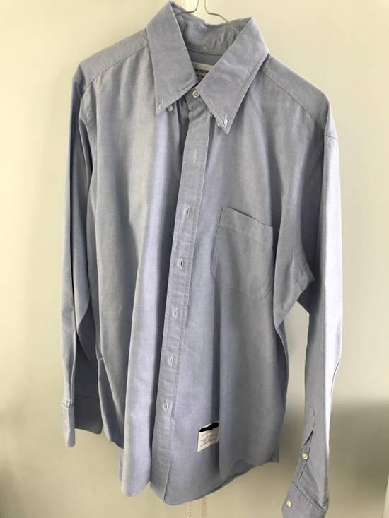 Thom Browne Blue Oxford Shirt Size US L / EU 52-54 / 3