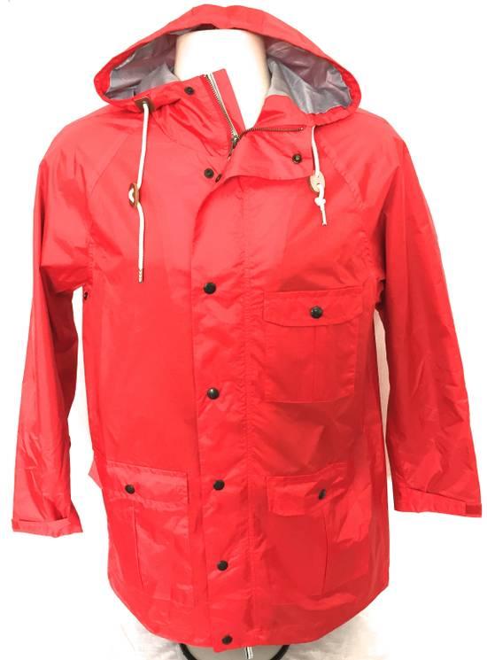 Thom Browne Red Hooded Rain Parka, NWT Size US L / EU 52-54 / 3