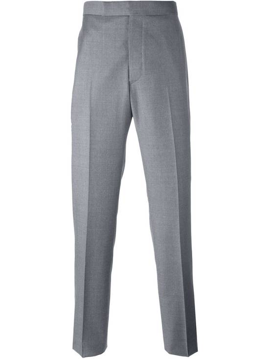 Thom Browne Straight Leg Suit Trouser Grey Melange Size 1 Size 38R
