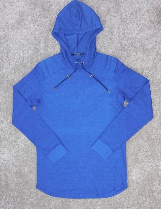 Balmain New Balmain Logo Hoodie in Denim blue 100% Authentic RRP £650 Size US M / EU 48-50 / 2 - 2